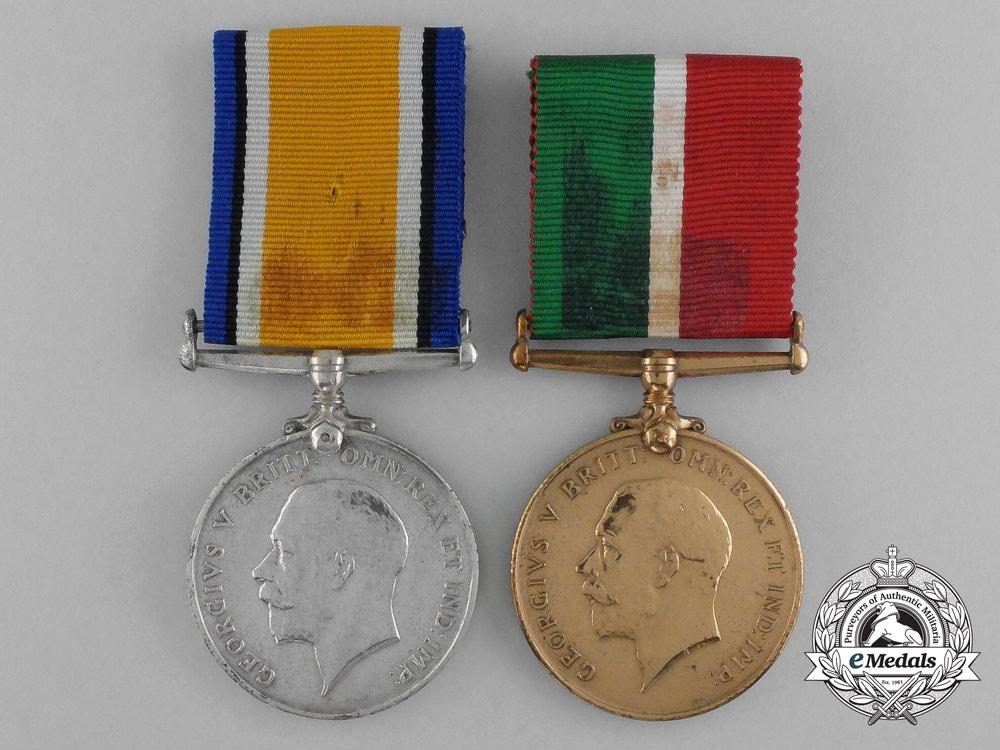 A First War Mercantile Marine Pair to Albert Skelhorn