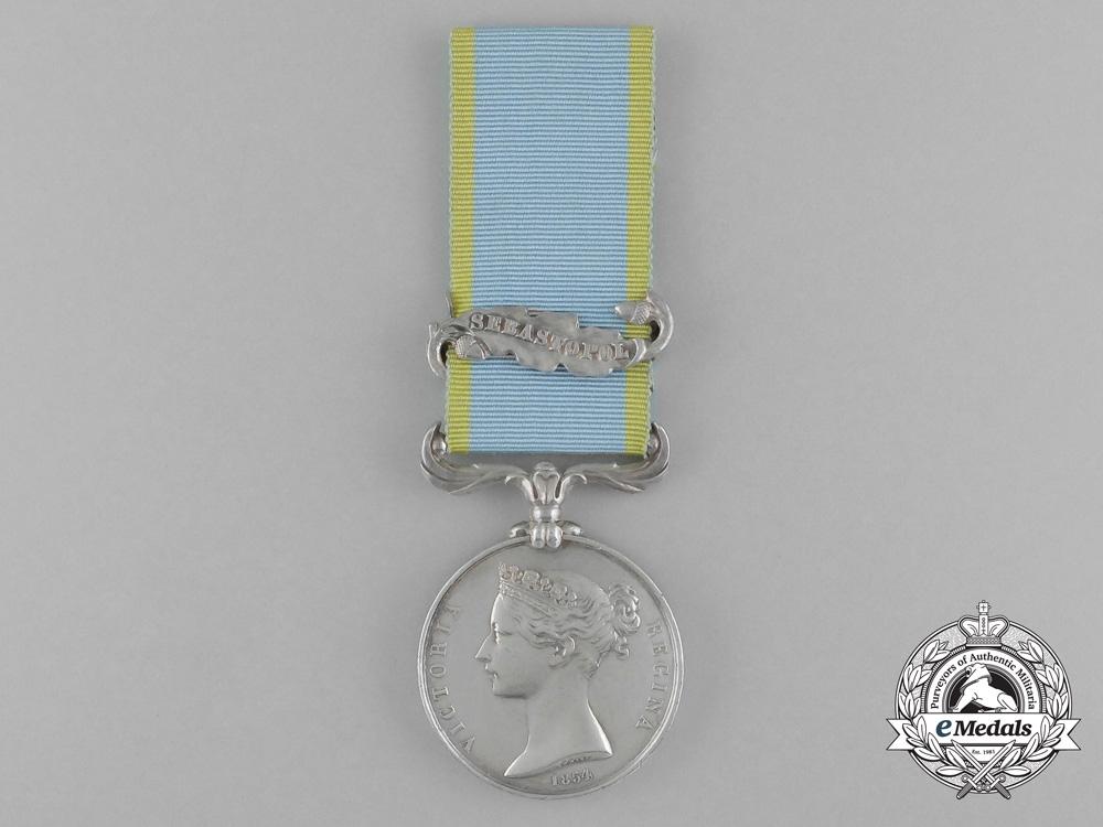 A Crimea Medal to Able Seaman Rd Smith; H.M.S. St. Jean d'Acre