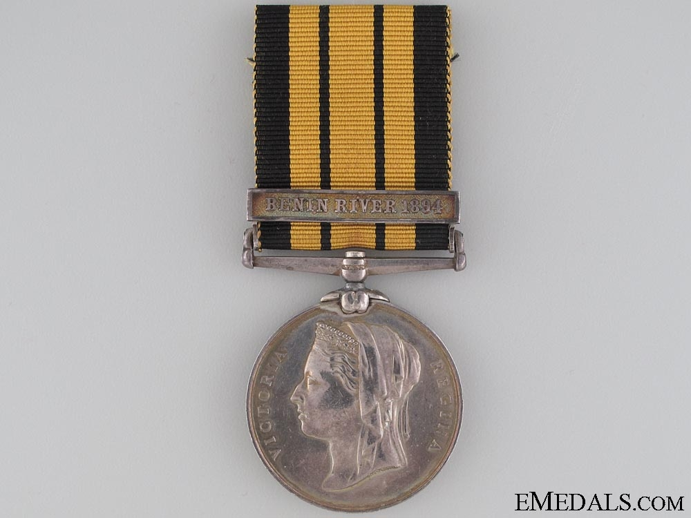 East and West Africa Medal 1887-1900, Stoker W. Burnard, HMS Phoebe