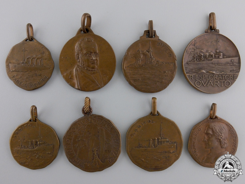 Eight First War Italian Ship Medals