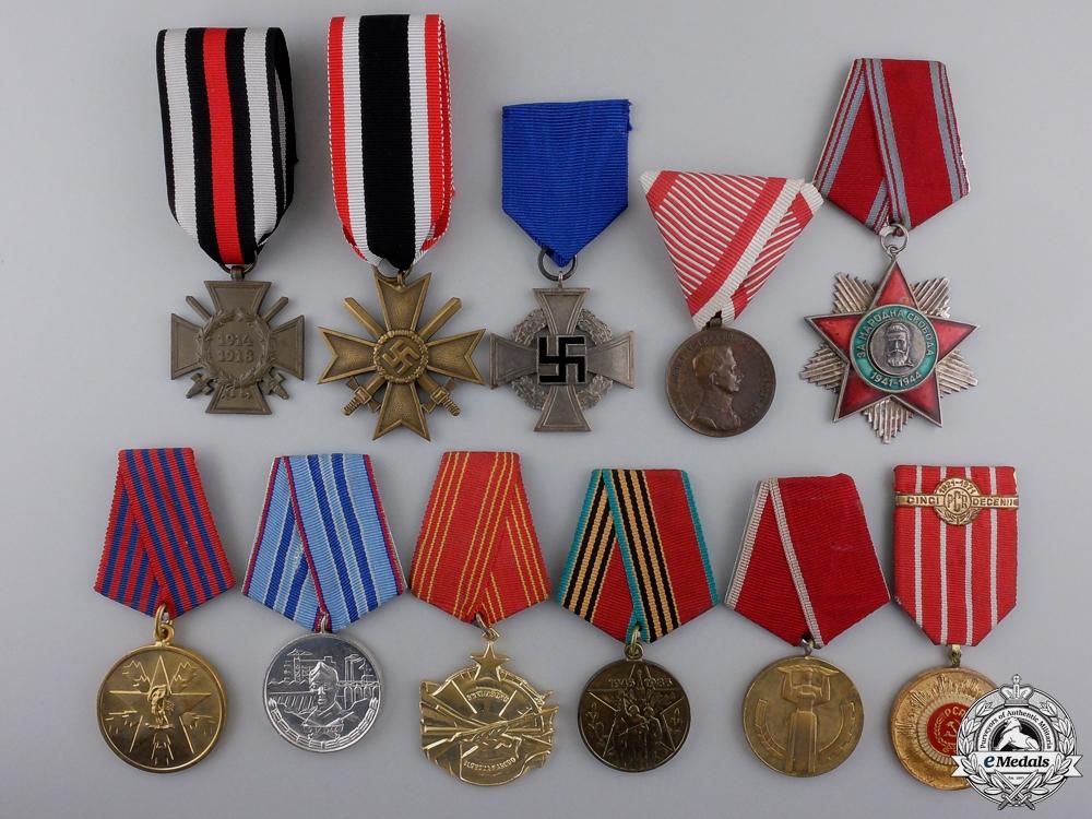 Eleven European Awards & Medals