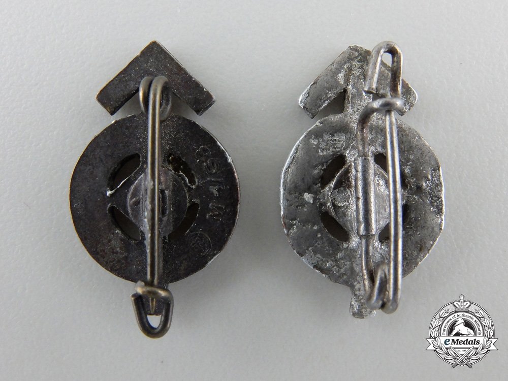 Two Miniature HJ Proficiency Badges