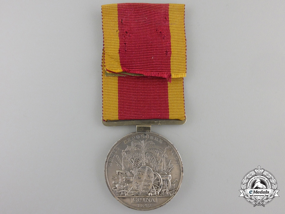 An 1840-42 China War Medal to the 55th Regiment of Foot