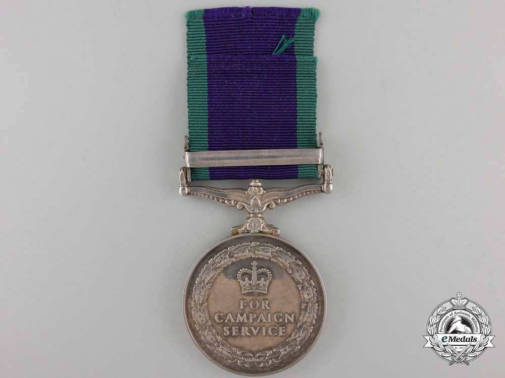 A General Service Medal to the Royal Navy for Northern Ireland