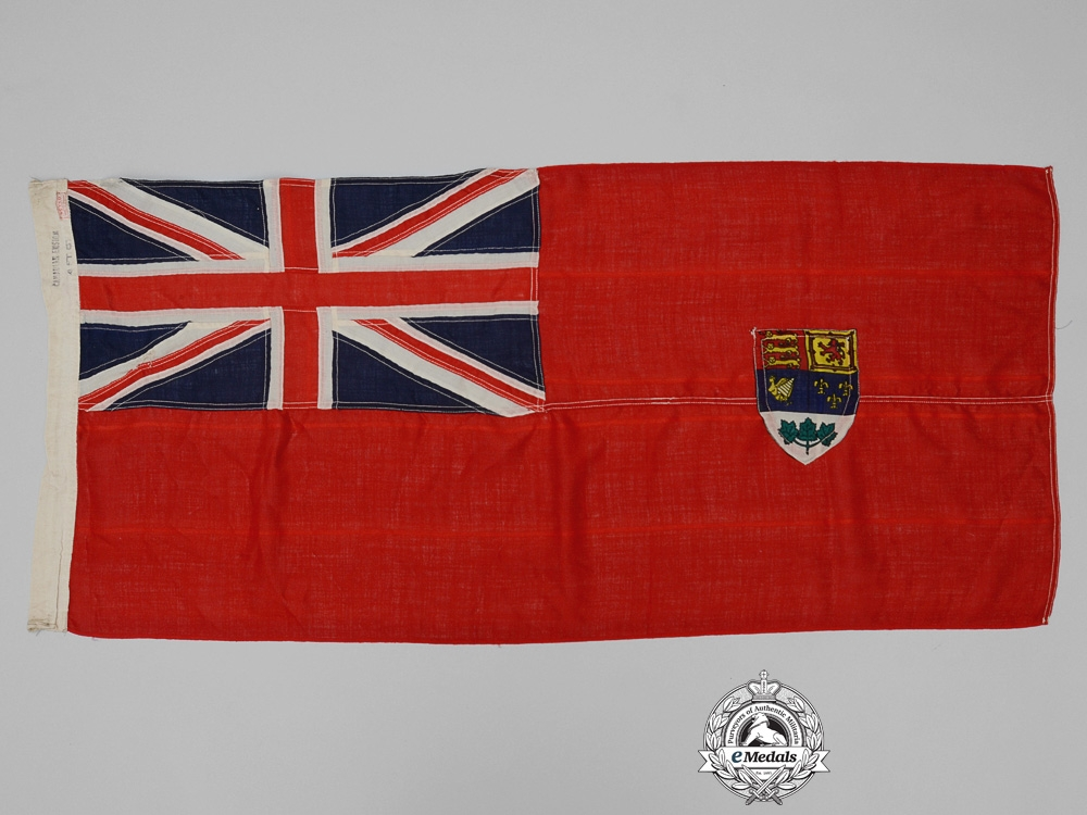A Second War Period Canadian Red Ensign