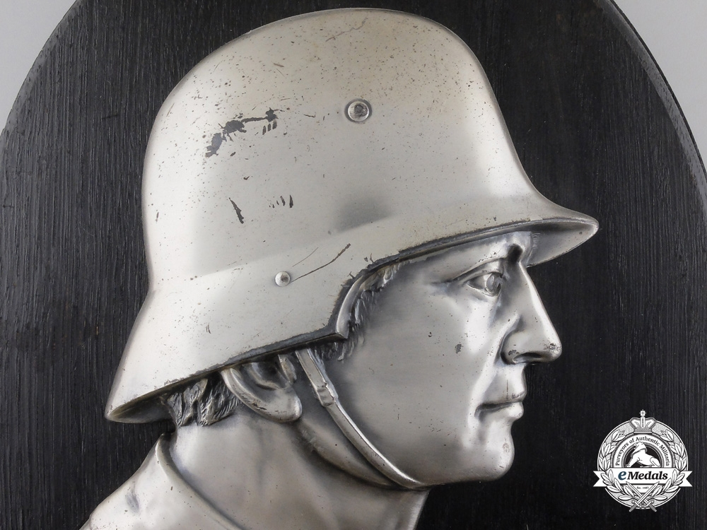 "A First War Army (Heer) Soldier Plaque by ""Matthias Müller"