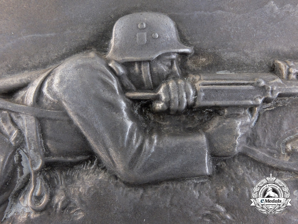 A Large Second War Army Machine Gunner Plaque