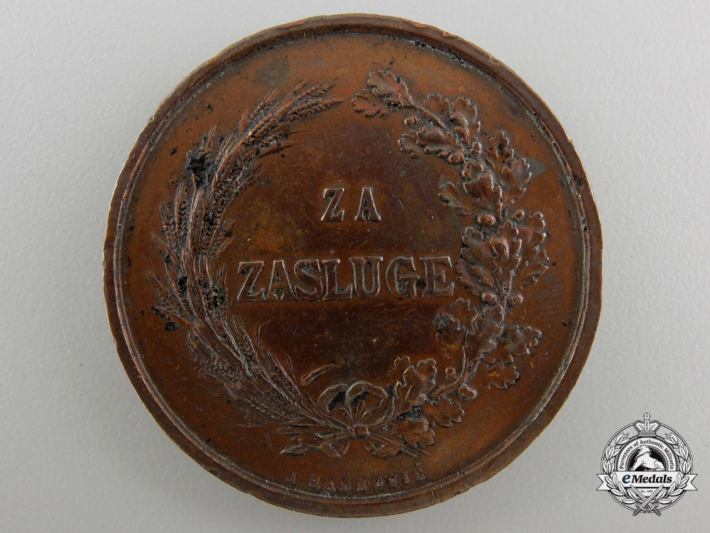 An 1891 Croatian Merit Medal for Agriculture and Forestry