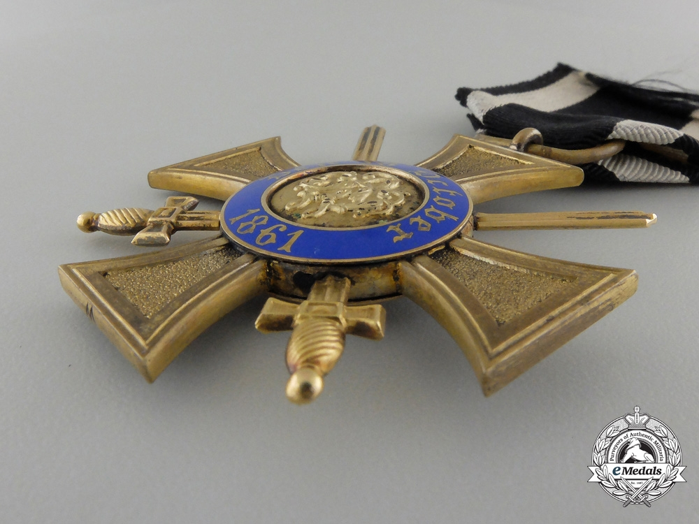 A Prussian Order of the Crown 1867-1918; 4th Class with Swords