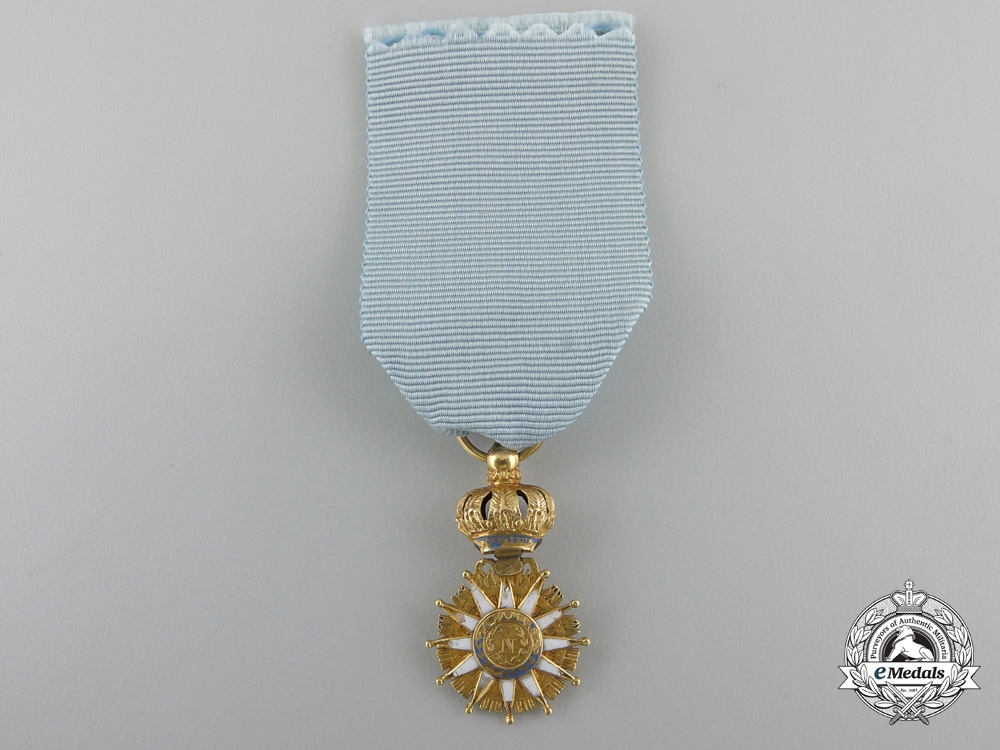 A Miniature French Napoleonic Order of the Reunion in Gold