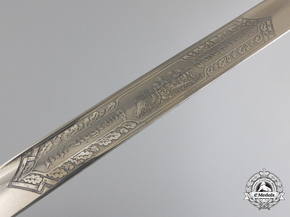 A 66th Magdeburg Infantry Regiment Army Etched Bayonet
