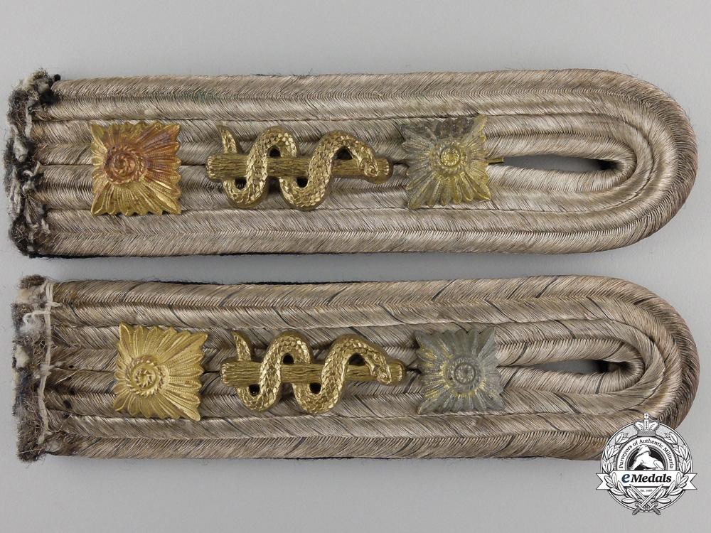 A Pair of Kriegsmarine Kapitänleutnant's Shoulder Boards