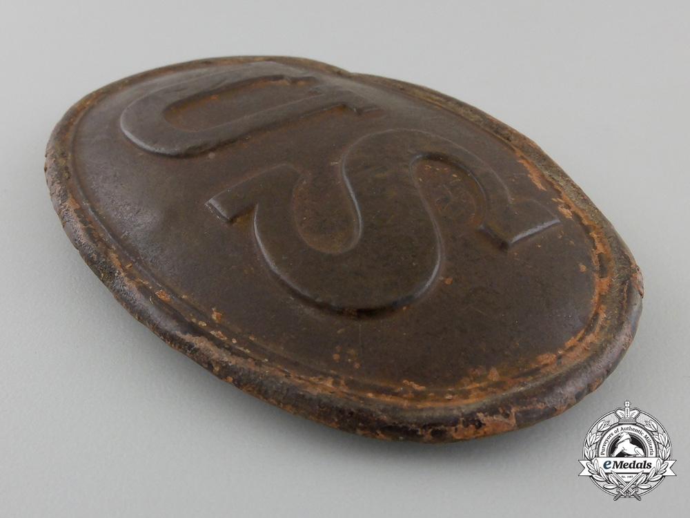 A Recovered American Civil War Union Belt Buckle