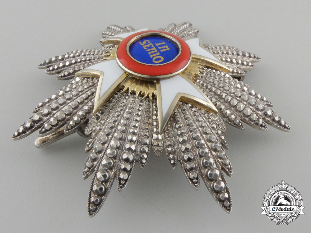 A Hohenlohe House Order of the Golden Flame; Breast Star