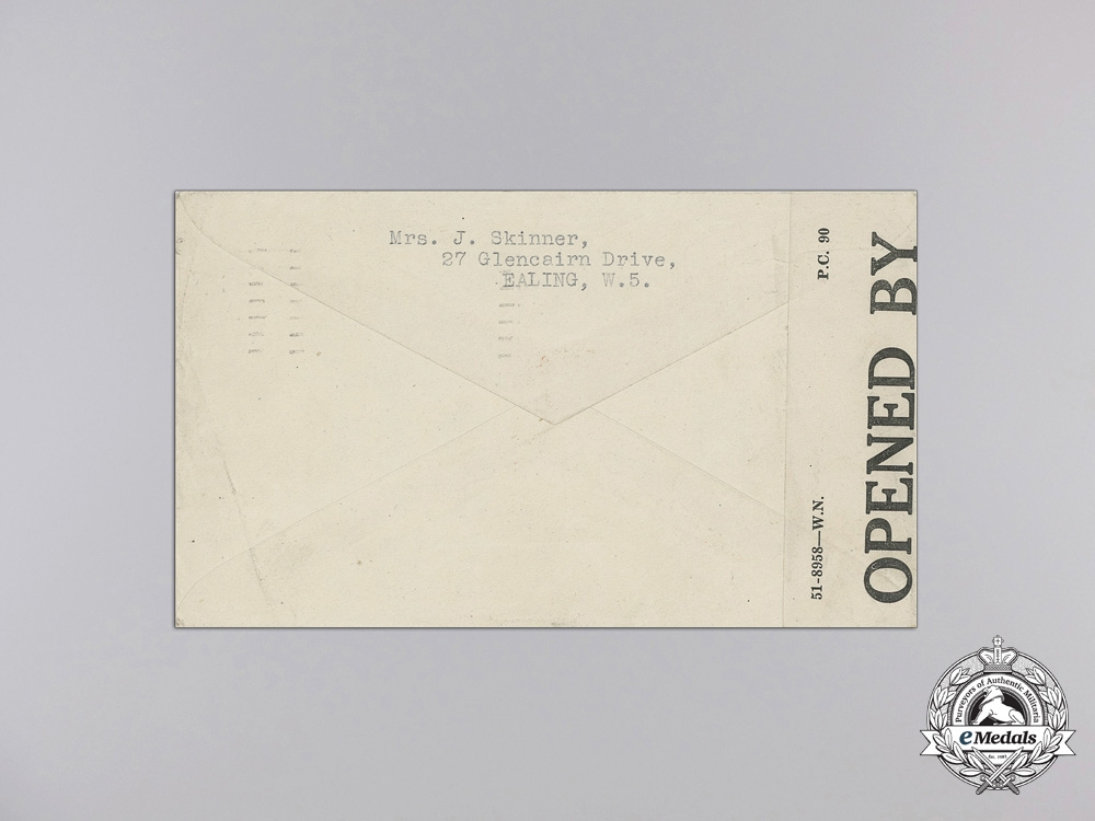 1944 Second War POW Letters from Osaka Camp Japan