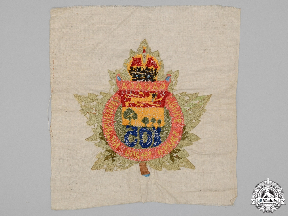 "A First War 105th Infantry Battalion ""Prince Edward Island Highlanders"" Tapestry"