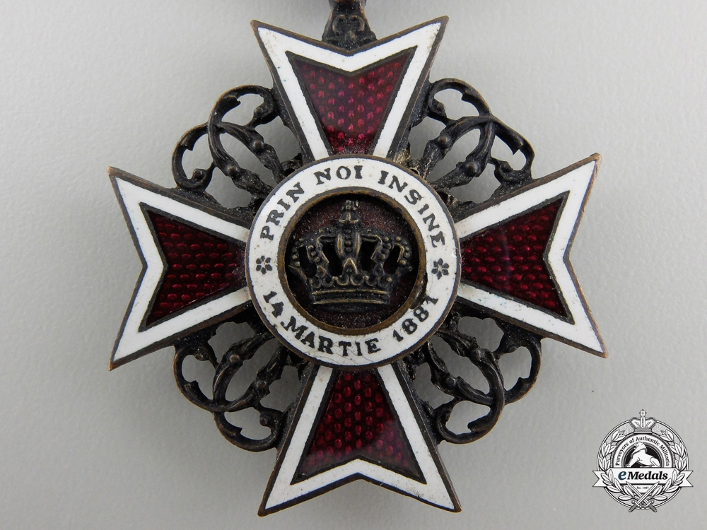 An Order of the Romanian Crown; 1881-1932 Knight's Cross