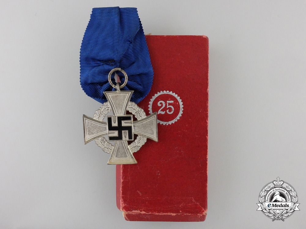A German Faithful Service Decoration; 2nd Class