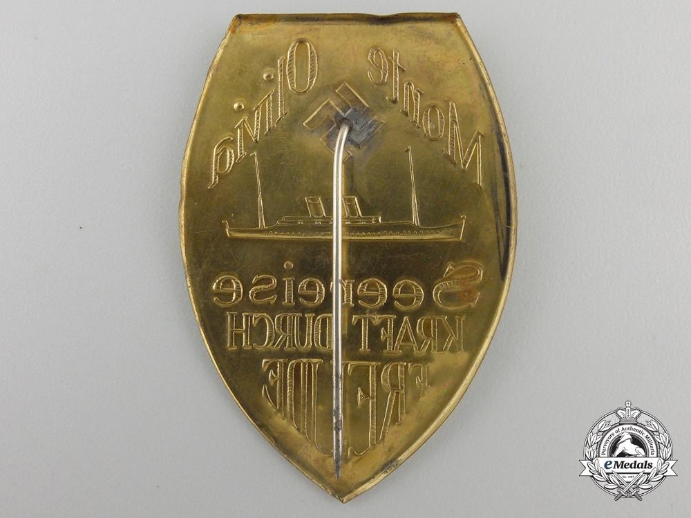 A KdFMonte Olivia Sea Voyage Badge