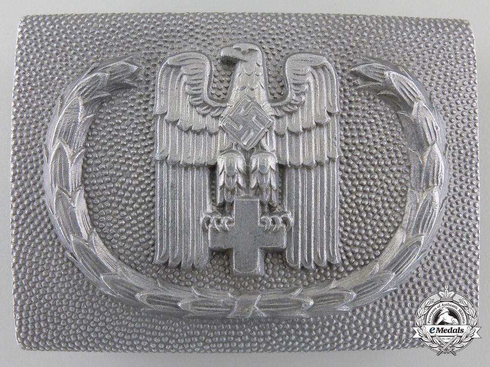 A German Red Cross Belt Buckle by Overhoff & Cie