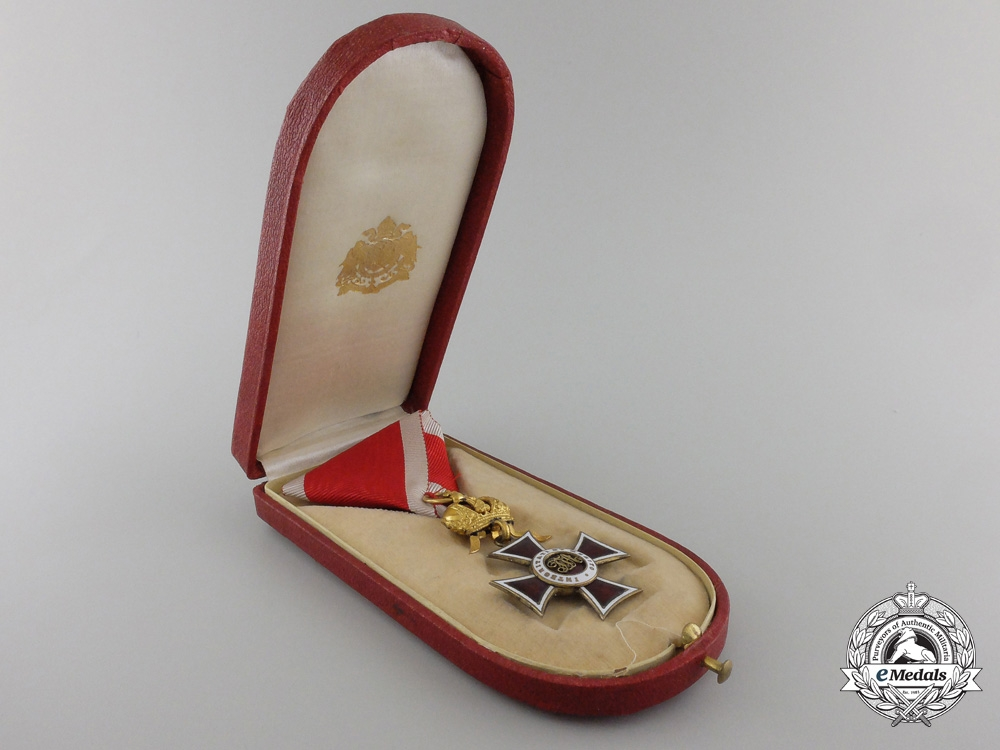 A First War Austrian Order of Leopold with Case by C.F. Rothe