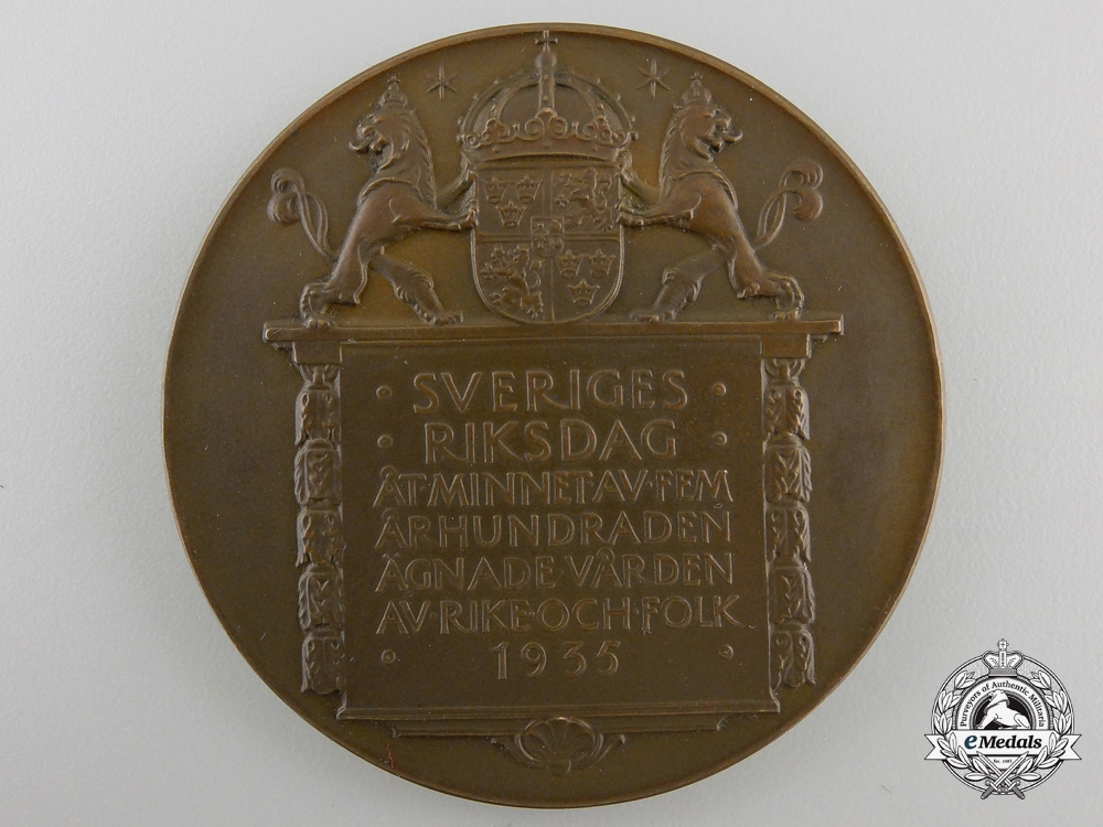 A 1935 Swedish National Legistrative Assembly Medal