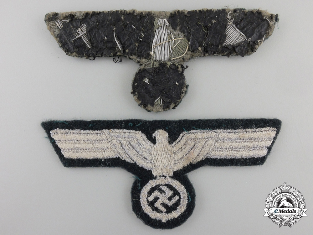 Two Wehrmacht EM & Officers Breast Eagles