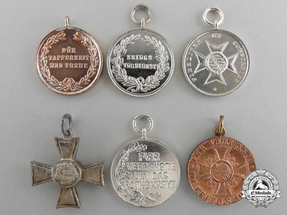 Six First War Period German Miniature Medals & Awards