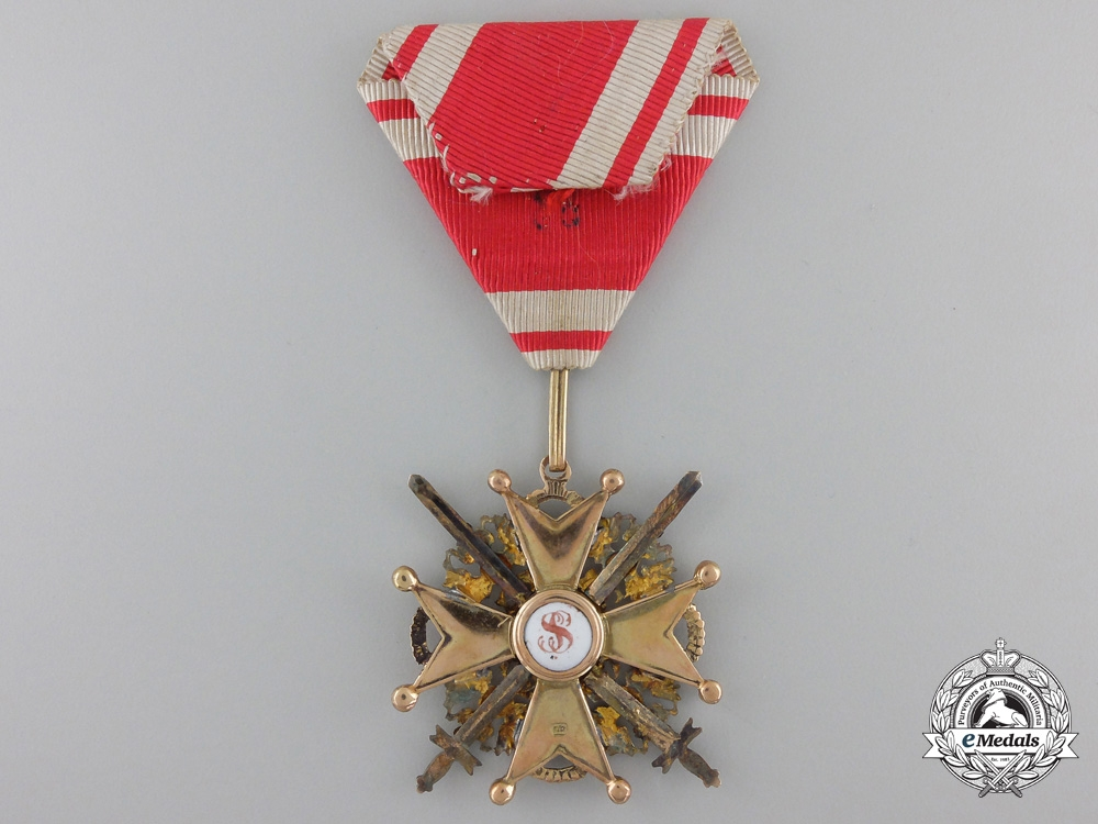 An Imperial Russian Order of St. Stanislaus in Gold; 3rd Class