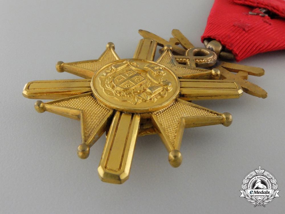 An 1877-1903 Serbian Cross of Takovo with Swords; Fifth Class