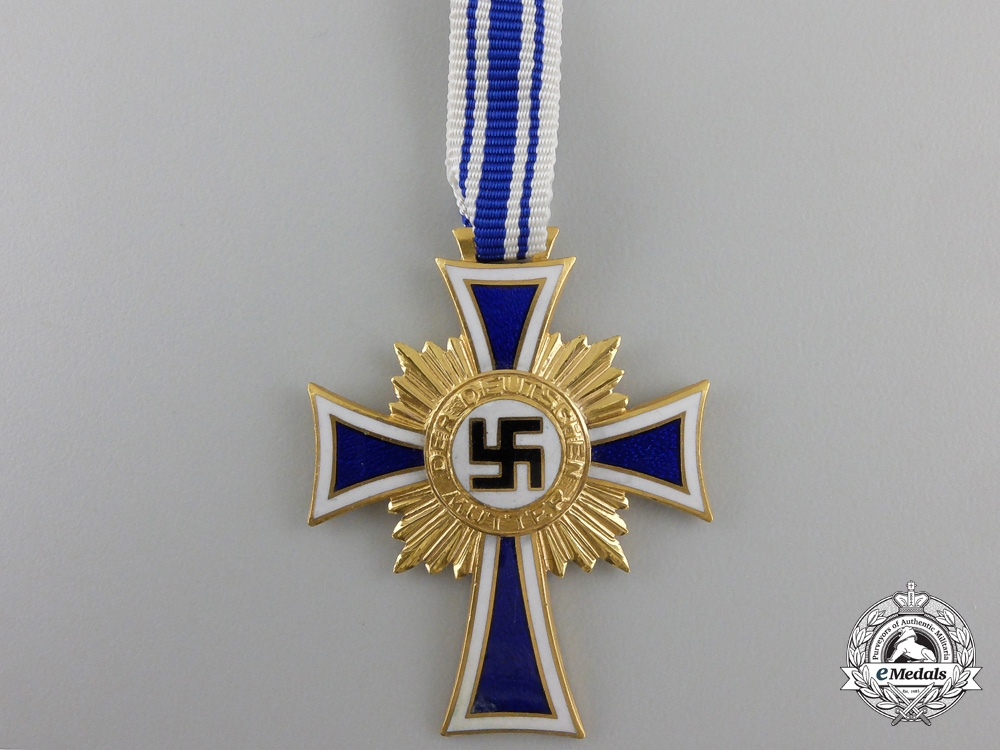 A German Mother's Cross; Gold Grade