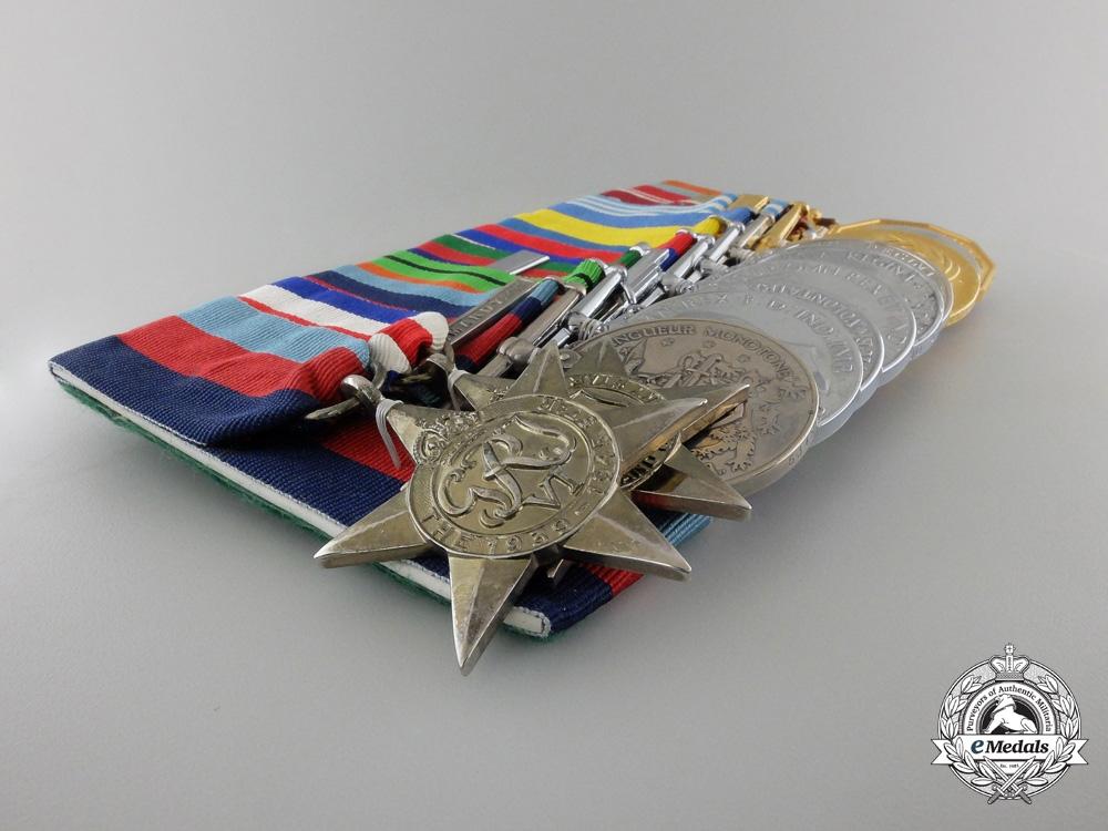 A Second War Normandy Participant & Korean Service Medal Bar