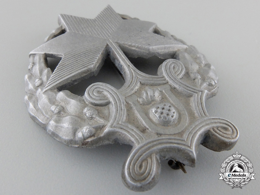 A Rare Croatian Iron Trefoil Recipient's Badge
