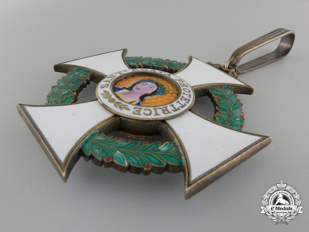 An Order of St. Agatha of San Marino; Commander's Cross