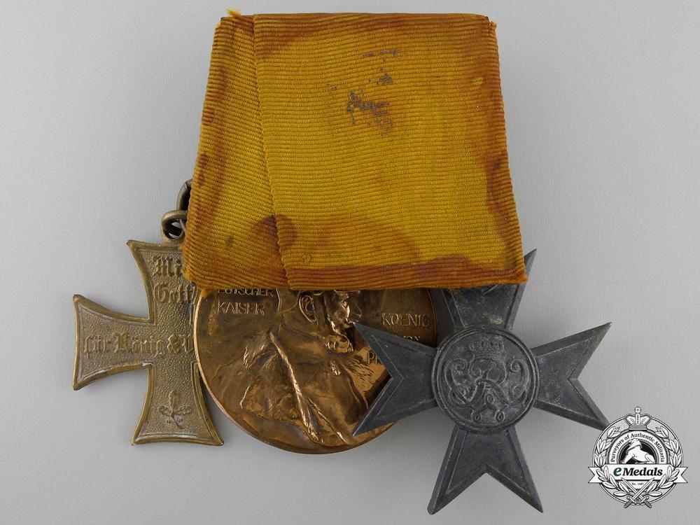 A German Imperial Landwehr Cross Medal Bar