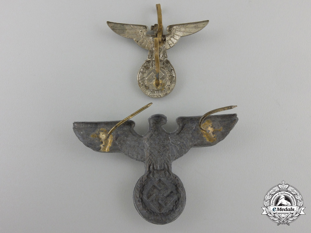 Two Second War German Cap Eagles