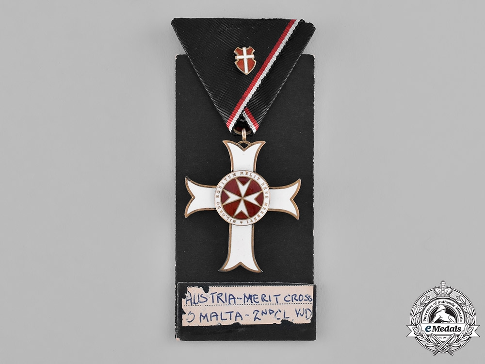Austria, Empire. An Order of the Knights of Malta, Merit Badge with War Decoration