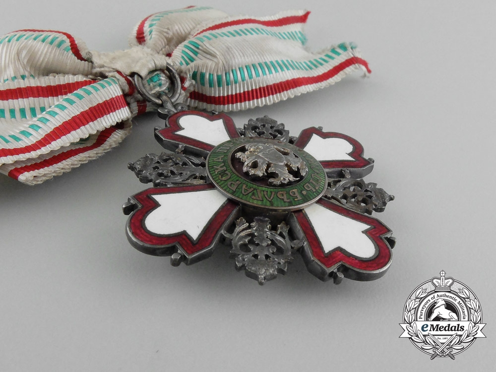 A Bulgarian Red Cross Order; Second Class