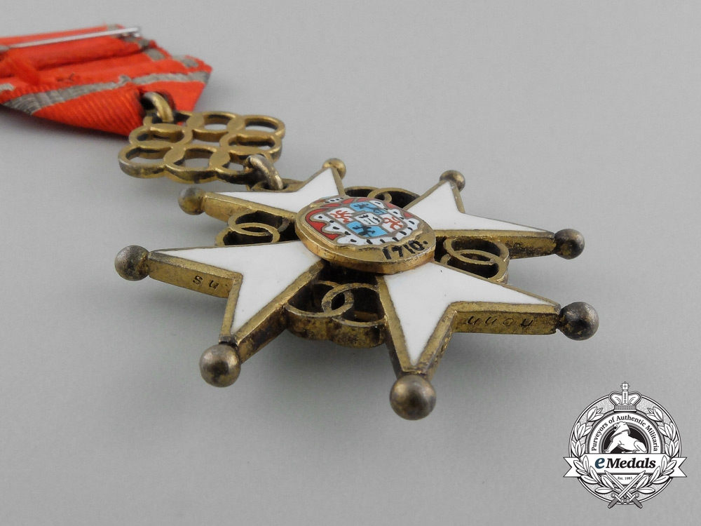 A Latvian Cross of Recognition; 4th Class Badge 1938-1940