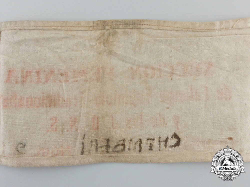 Spain, Fascist State. A Falange Women's Section Chanberi District Armband
