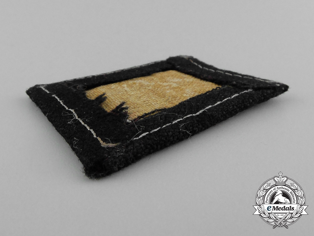 Concentration Camp SS Personnel Collar Tab
