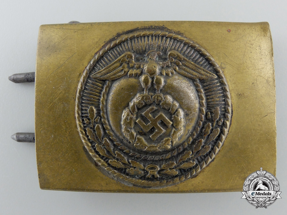 An SA Enlisted Belt Buckle; Reduced Size