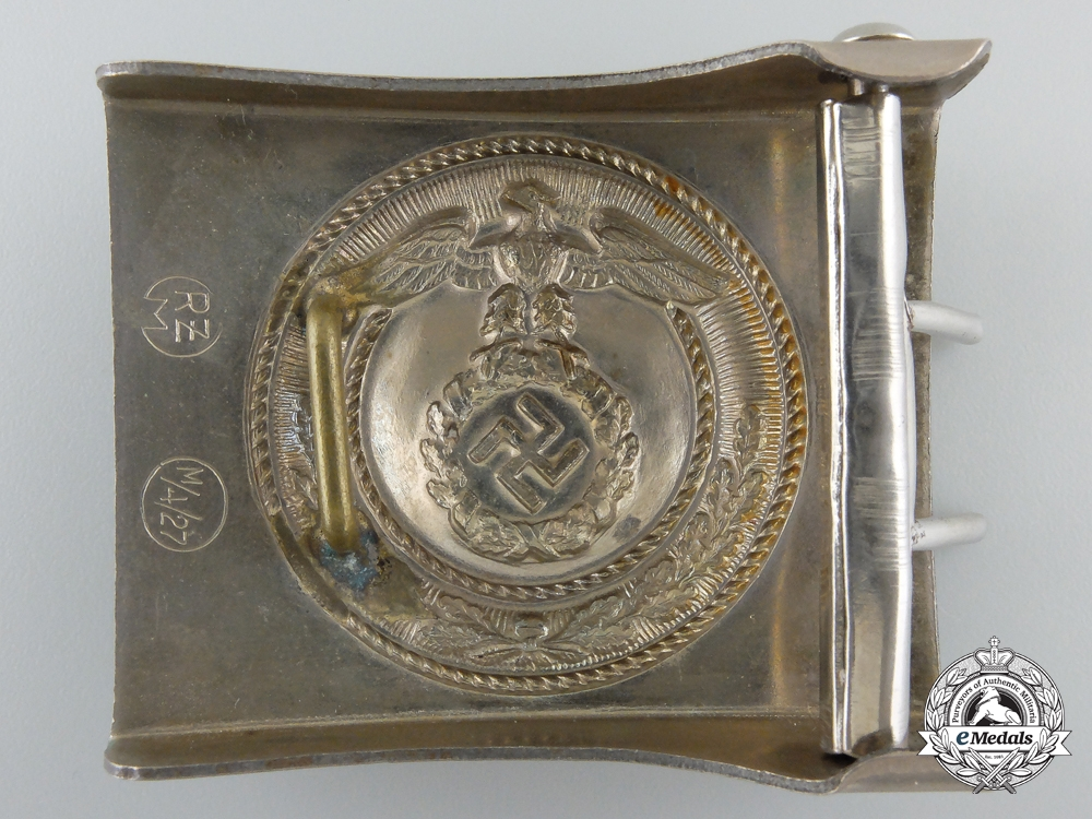 An NSKK Enlisted Belt Buckle by Overhoff & Cie' in Lüdenscheid; Published Example