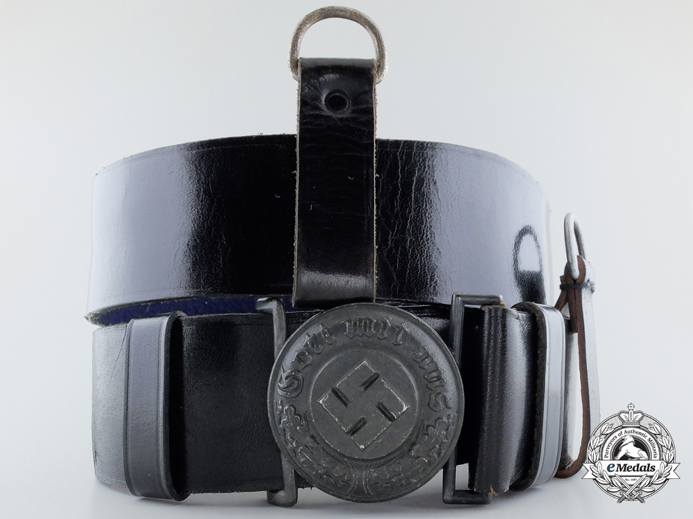 A German State Police Officer's Belt with Buckle by Overhoff & Cie