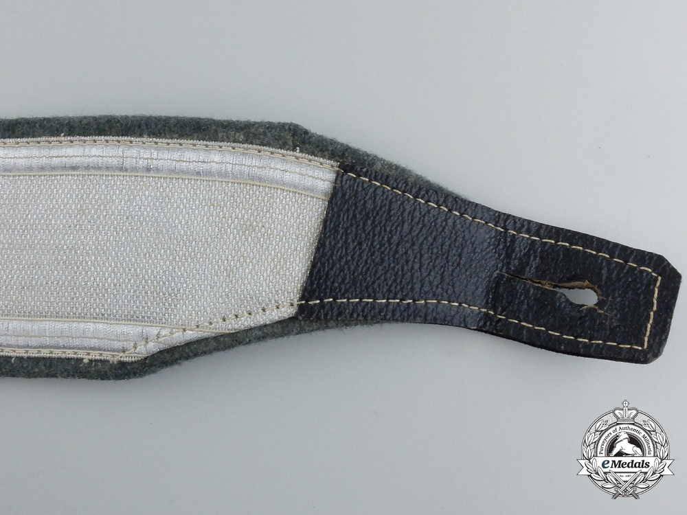 A German Police Officer's Dress Cross Belt with Buckle & Pouch