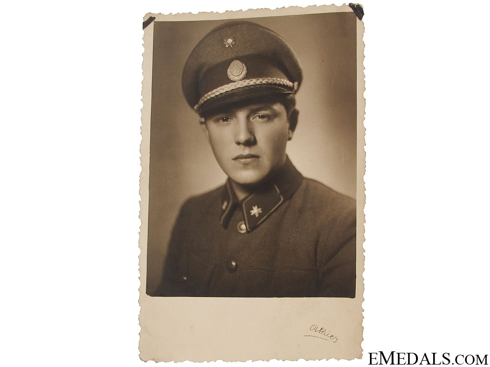 Fine photo of WWII Croatian Home Guard Officer