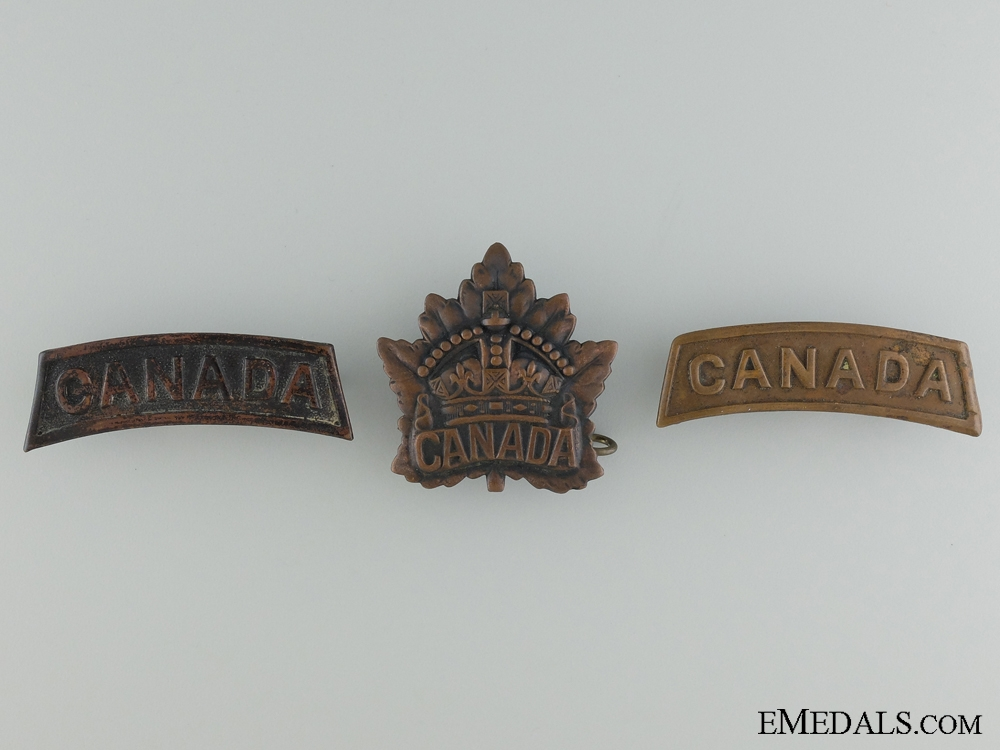First War Canadian Insignia