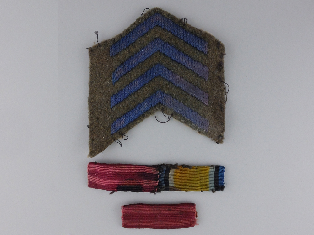 First War Distinguished Flying Cross Ribbon & Service Stripes