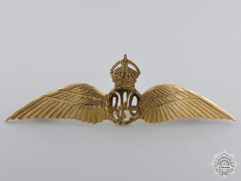 First War Royal Flying Corps Wings in Gold
