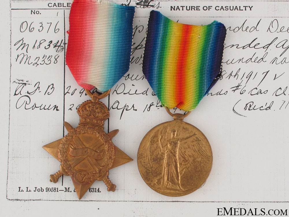 First War to a Canadian Vimy Officer Casualty